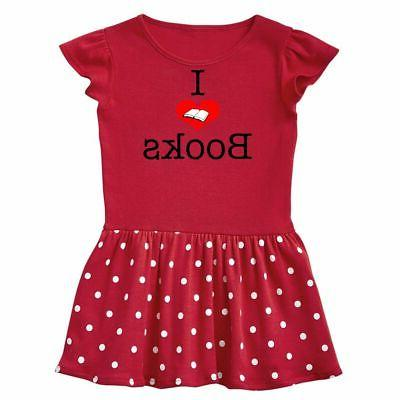 i love books infant dress heart reading