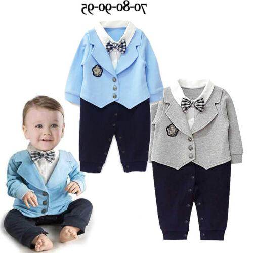 Infant Gentleman Romper Jumpsuit Bodysuit