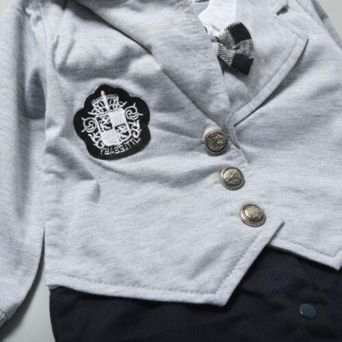 Infant Gentleman Clothes Romper Bodysuit Outfit