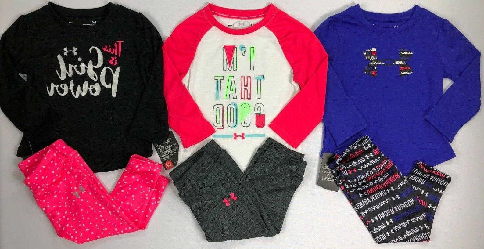 Infant Baby Girl's Under Armour Long Sleeve Shirt and Pants