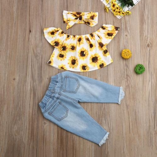 Off Tops+Jeans 3PCS Outfits