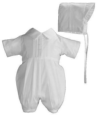 Infant Things Mean Lot Christening Romper & Size White