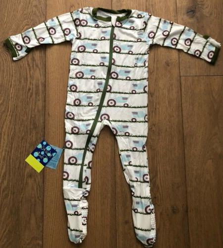 Kickee Print Coverall Zipper Tractor 9-12Months
