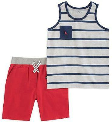 infant boys striped tank top 2pc short