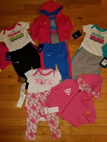 Infant Size Months HUGE LOT 12 ITEMS NWT Baby REEBOK