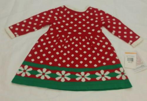Bonnie Sweater Dress Red Dots 12 Christmas