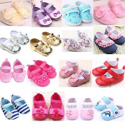 Infant Toddler Baby Girl Princess Crib Shoes Soft Sole Prewa