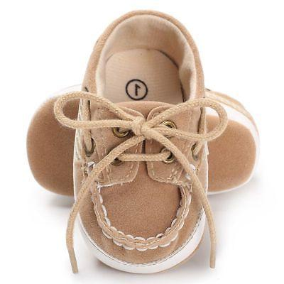 Infant Toddler Sneakers Baby Boy Girl Sole Crib Shoes 12