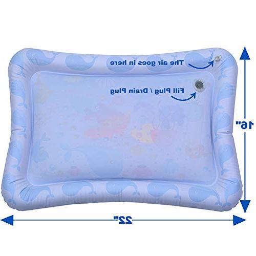 Inflatable Tummy Mat Infants Activity Play Baby Toys for and