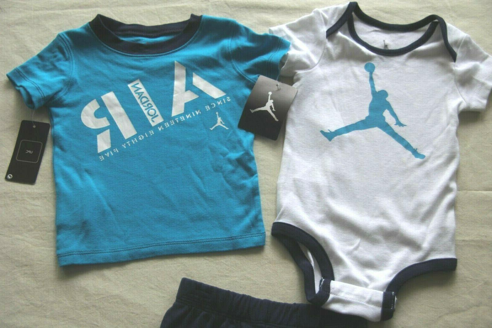 NIKE BLUE 3PC OUTFIT 12 MONTHS NEW