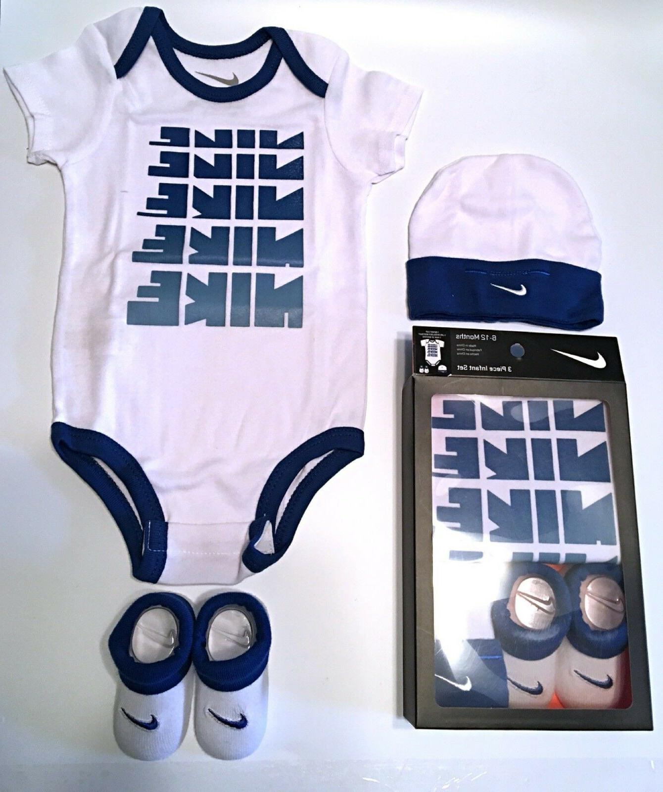 Nike Jordan Infant Newborn 3 Piece Set Bodysuit Hat Booties