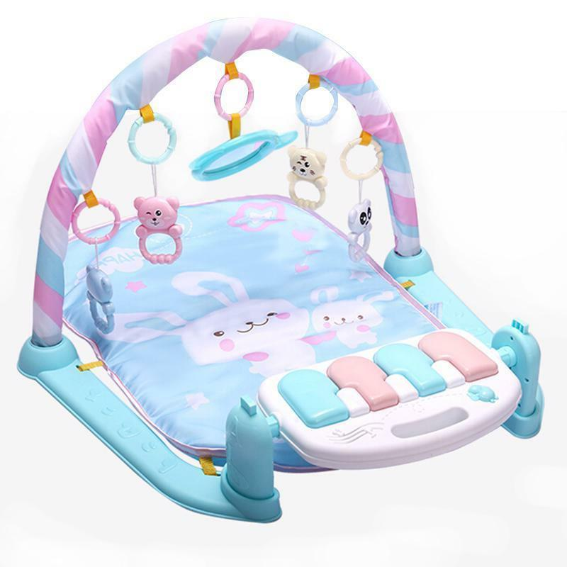 Kids Gym Blue Months Soft Lighting Rattles Musical Babies To