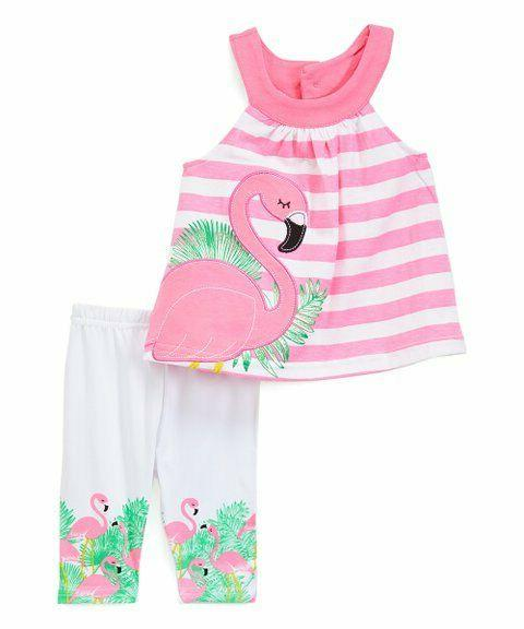 kids size 12 months girls flamingo outfit