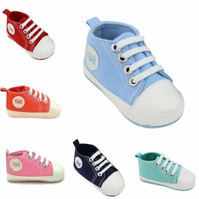 Kids Toddler Crib Baby Boy Girl Soft Sole Walker Sneaker Newborn to 18