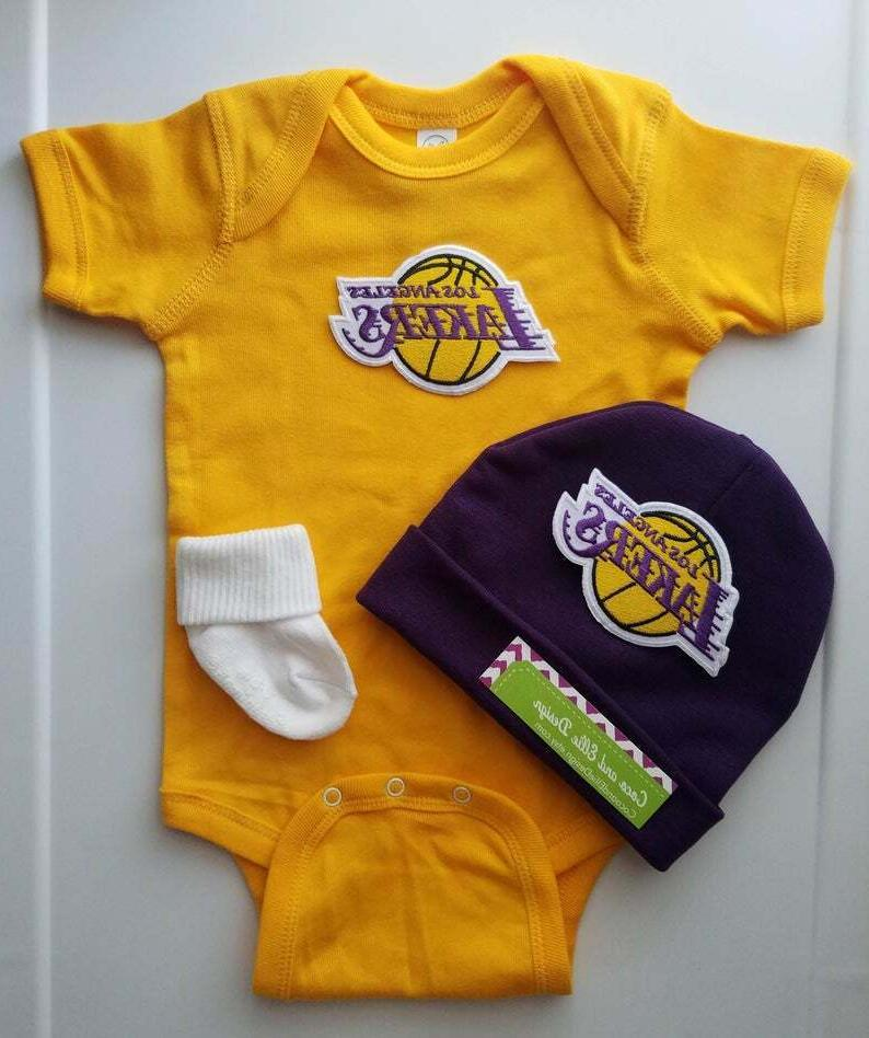 lakers infant baby 3 pc outfit boy