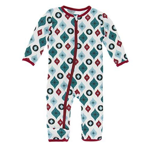 little girls and boys holiday print coverall
