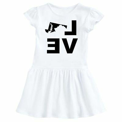 Inktastic Love Maryland Infant Dress State Support Gift Usa