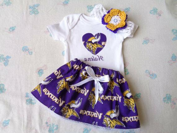 Minnesota Vikings  Baby Girl Skirt, Personalized Bodysuit an