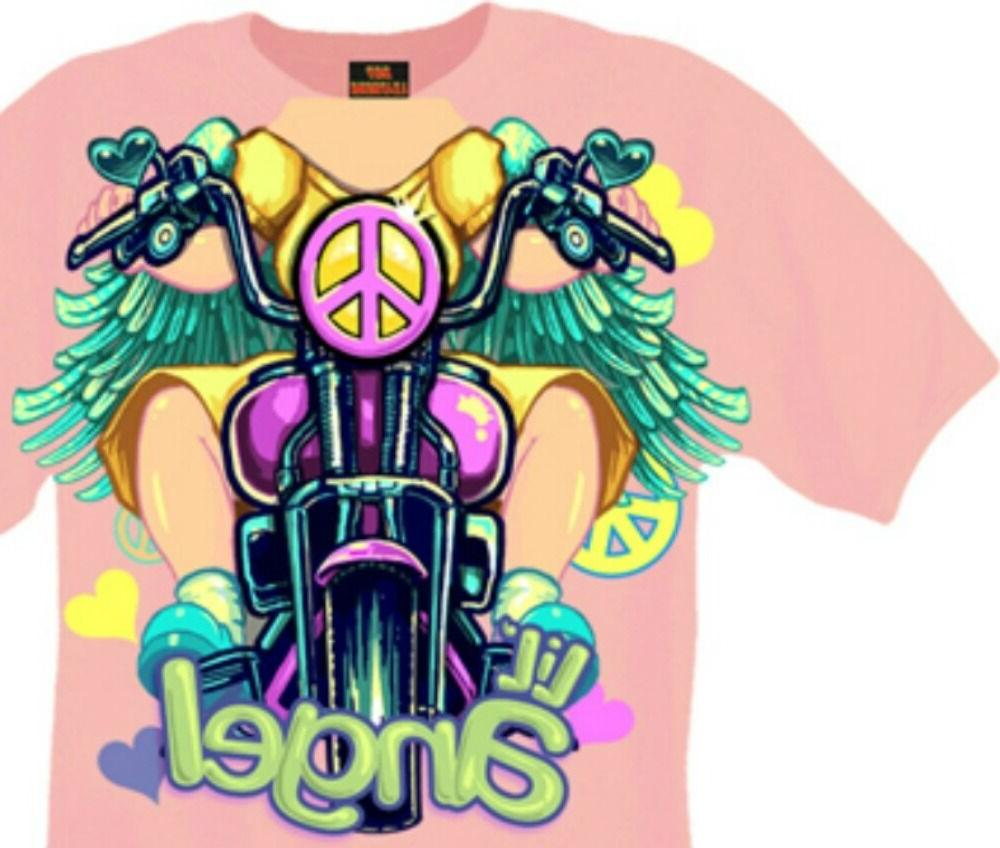Motorcycle T-shirt New Sleeve 12M Pink