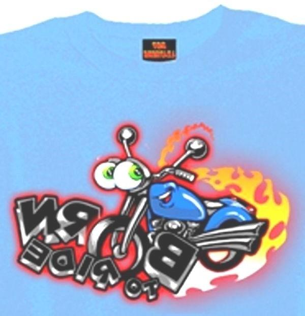 motorcycle boys tshirt born to ride biker