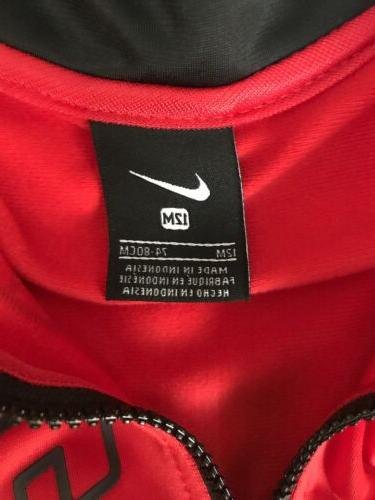 NEW Nike Size 12 Set Track Suit Black Red Nike Sweatsuit