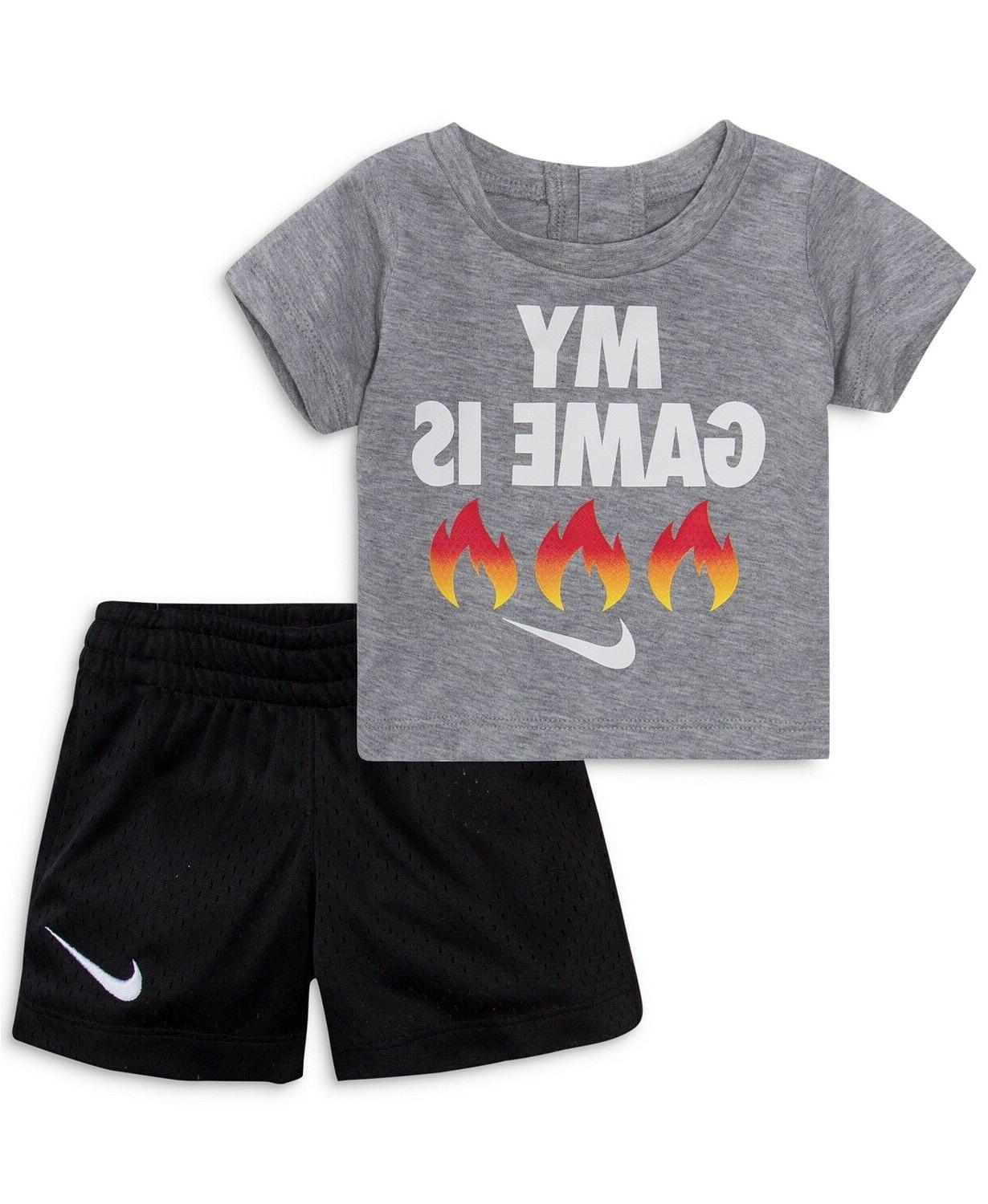 New Nike Baby Graphic Print Shorts Set and Color