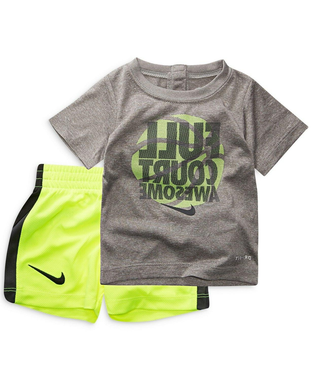 New Nike Baby Boys Swoosh Tee Shorts Set Choose and Color