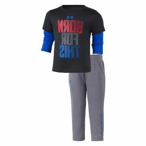 New Under Boys' Tee and Pants Set 12M, and 24M