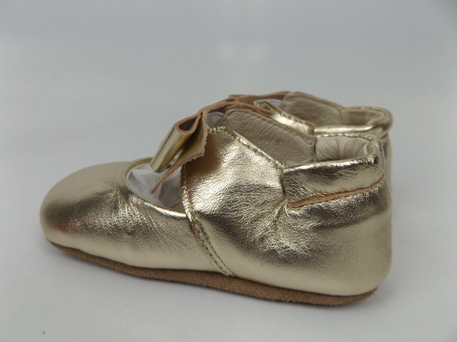 NEW! Robeez First Sophia Soft Leather Shoes 12-18 Months