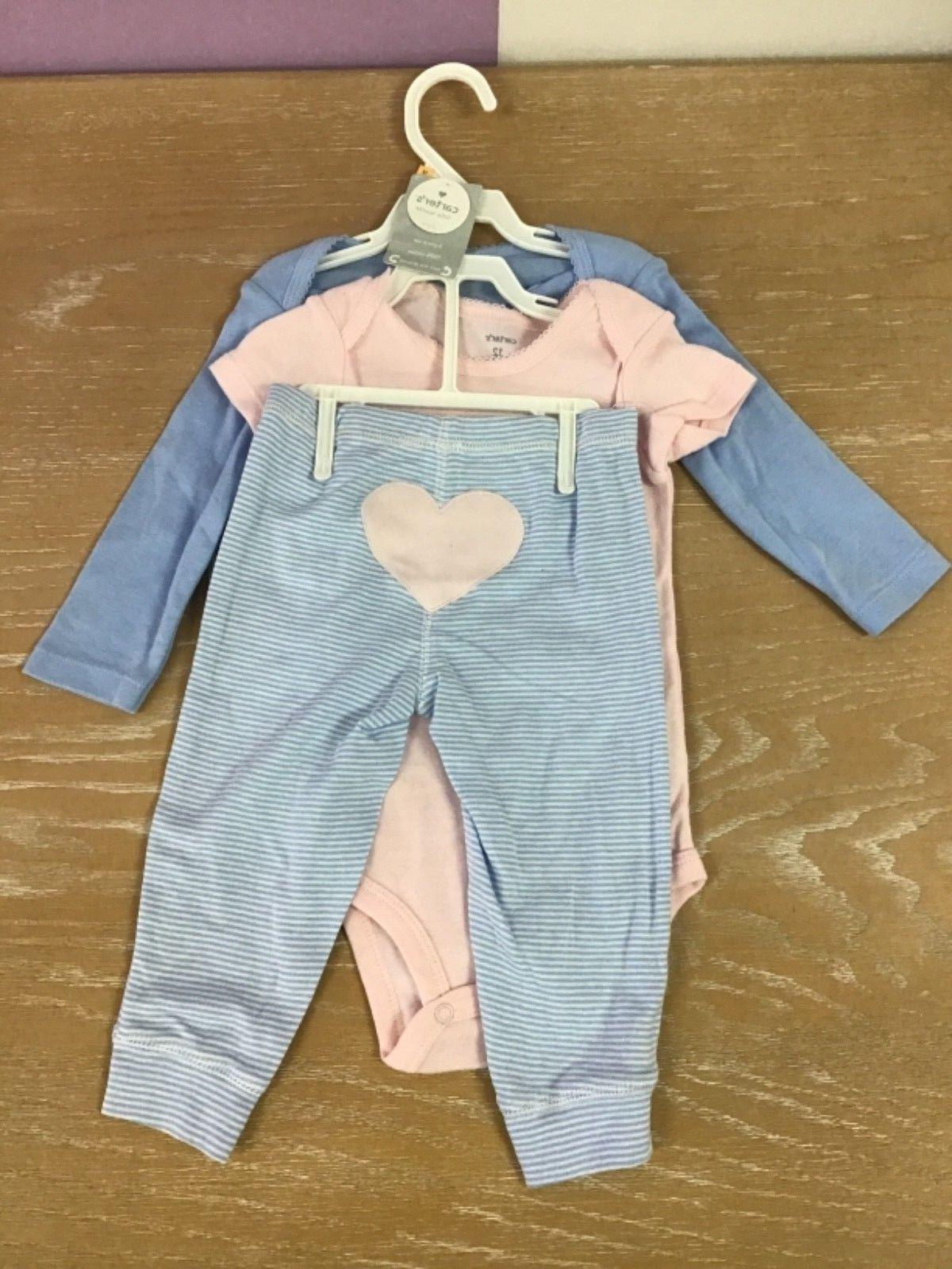 New! Infant Carter's Girl's Little Layette Size 12 Months 3