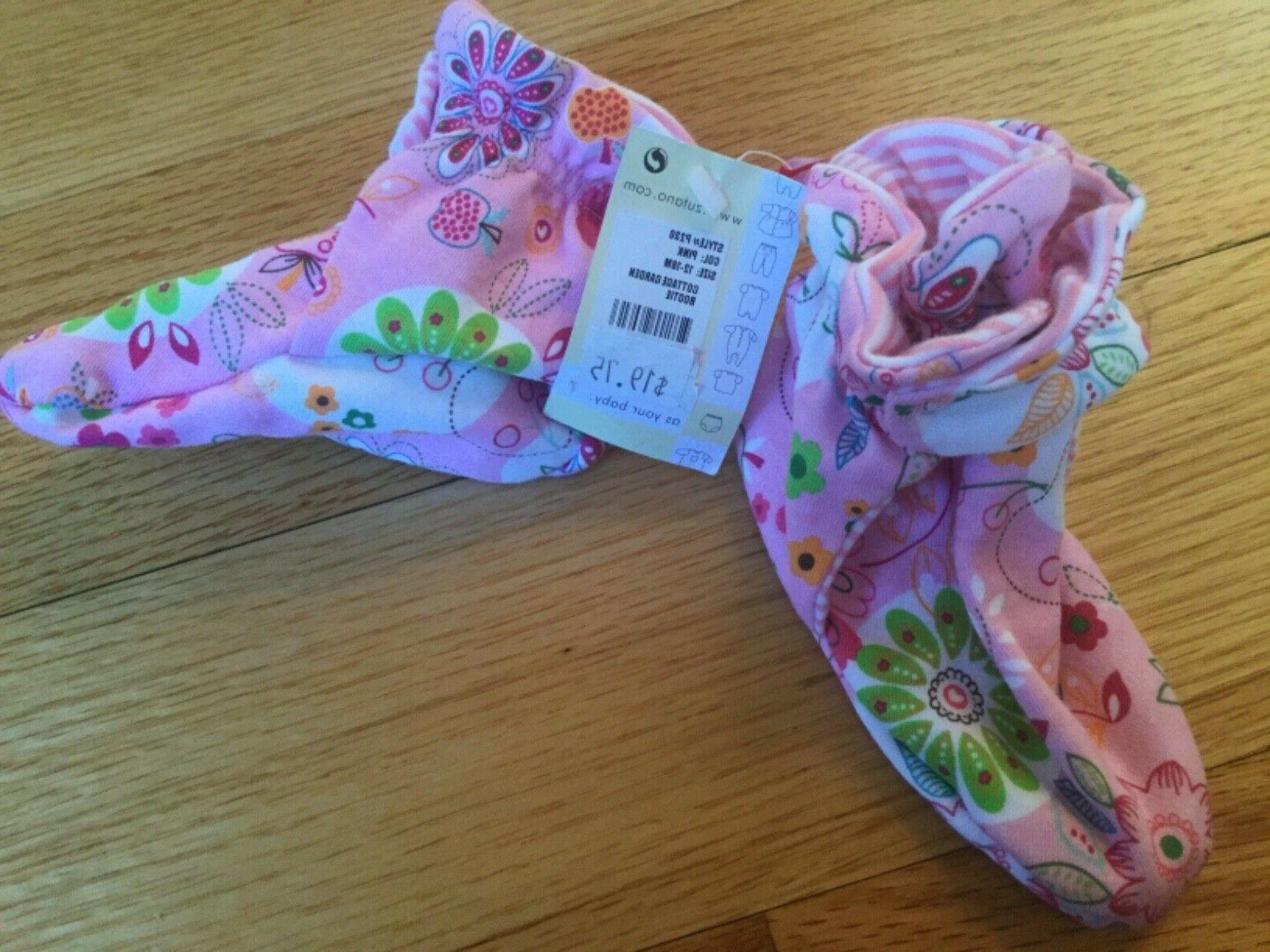 new infant girl booties size 12 18