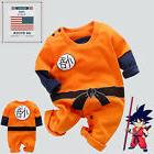 Newborn Baby Boy Girl Dragon Ball Z Clothes Long Sleeve Romp