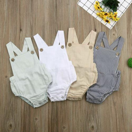 Newborn Baby Boys Girl Tops Romper Summer Bodysuit Sunsuit Outfits Set Clothes