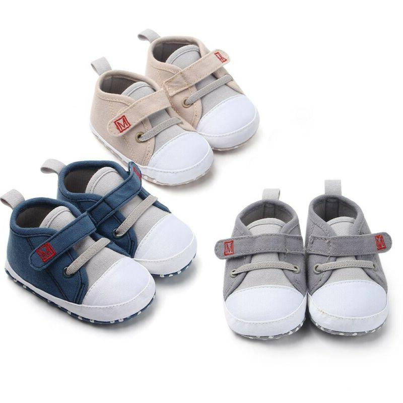 newborn baby boys girls new canvas shoes