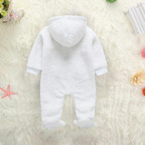 Newborn Baby Boy Fall Winter Bodysuit Jumpsuit Hoodies