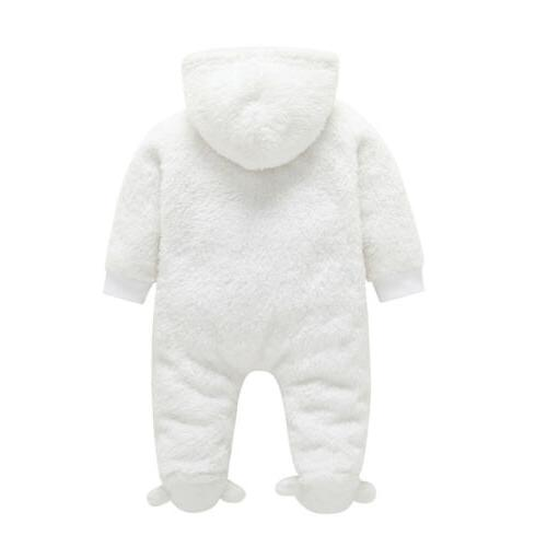 Newborn Baby Girl Fall Fuzzy Bodysuit Clothes