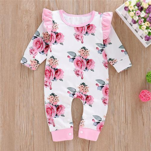 Newborn Baby Girl Cotton Romper Playsuit Clothes