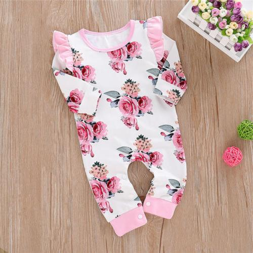 Newborn Floral Cotton Bodysuit Playsuit Winter