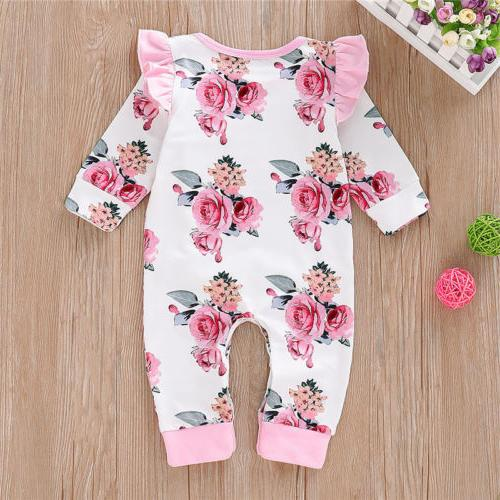Newborn Girl Floral Playsuit Clothes