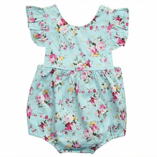 Newborn Baby Ruffle Outfit Clothes