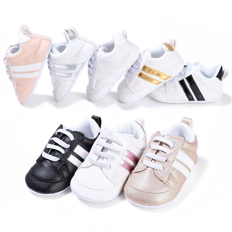 Newborn Baby First Walkers Bebe Lace-Up Sports Sneakers