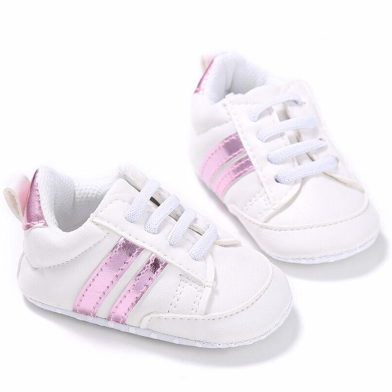 Newborn Girls First Walkers Bebe Lace-Up Sports