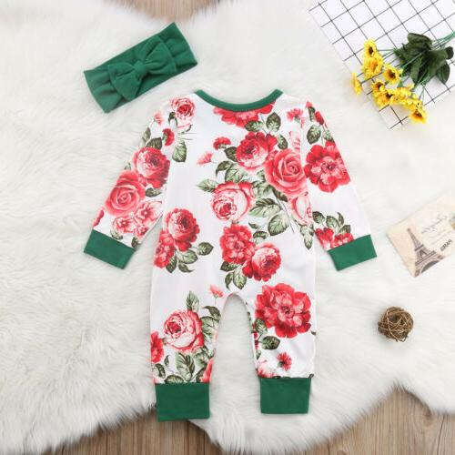 Newborn Flower Romper Bodysuit Jumpsuit Outfits