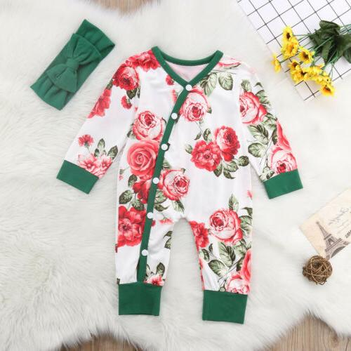 Newborn Girls Romper Outfits