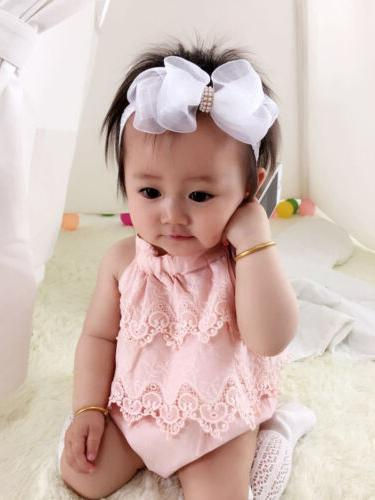 Canis Baby Girls Lace Romper Bodysuit Outfits Sunsuit Clothes