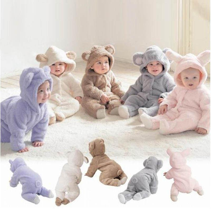 Newborn Baby Infant Boy Girl Romper Hooded Jumpsuit Bodysuit