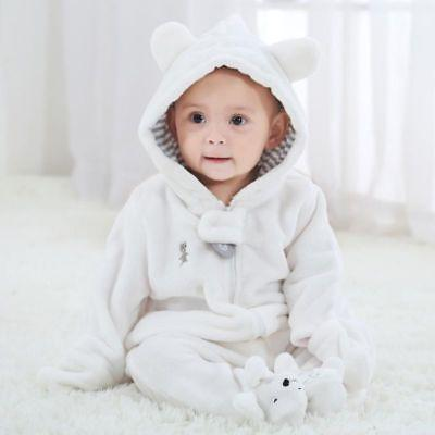 Newborn Boy Girl Hooded Jumpsuit