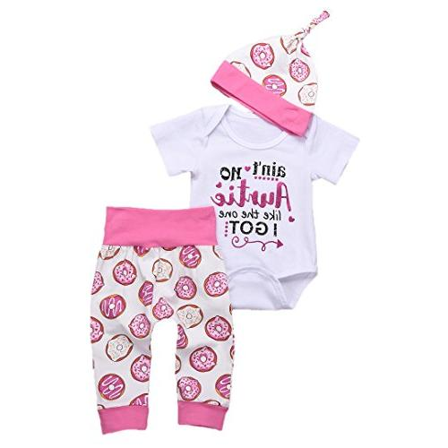 newborn baby letter romper and pants