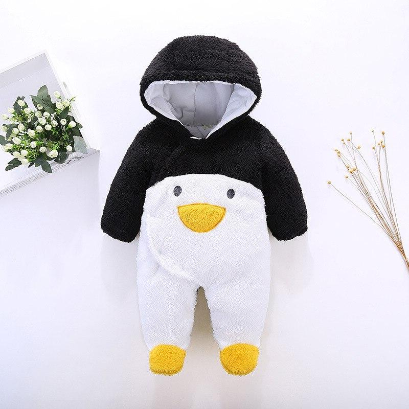 Newborn Baby Winter Cartoon Girls Infant Fleece Hoodies <font><b>12</b></font> Clothes Girls