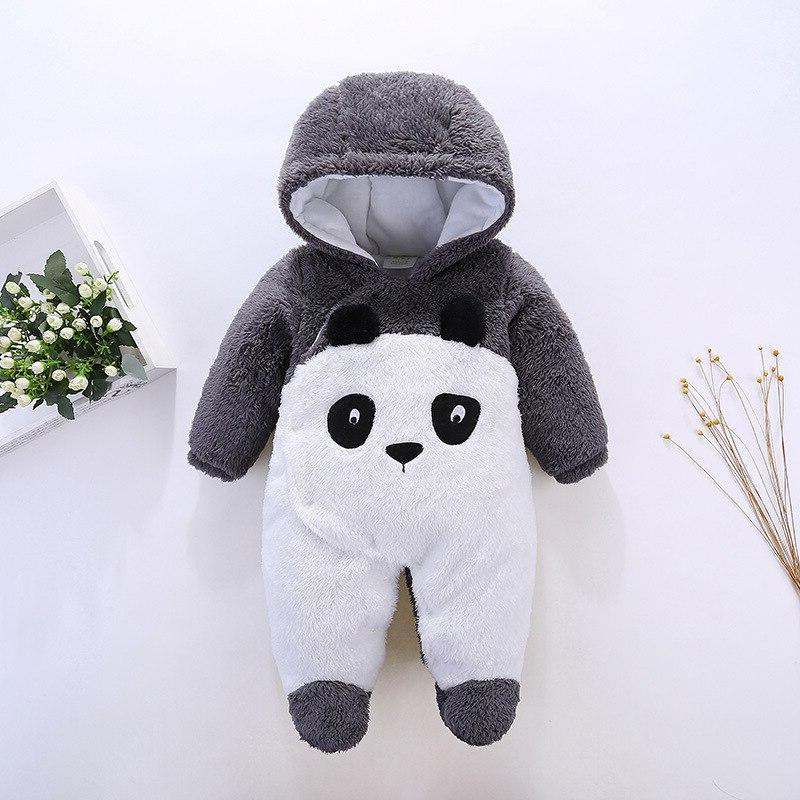Newborn Overalls Cartoon Panda Costume Infant Baby Hoodies Clothes Girls